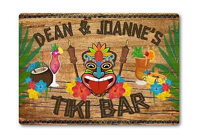 £21.95 • Buy Personalised TIKI Bar Sign METAL Plaque Cocktail Tropical Home Pub Outdoor Beach