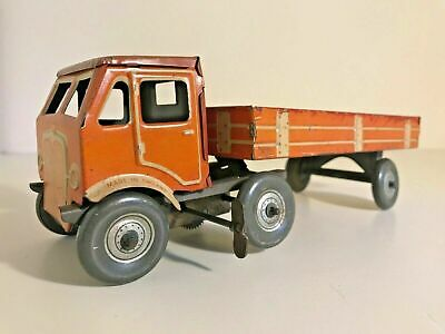 £160 • Buy Rare Vintage 1940s METTOY CLOCKWORK ARTICULATED LORRY With TRAILER Larger Scale.