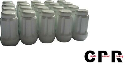$21 • Buy CPR CLOSE ENDED SPLINE TUNER RACING LUG NUTS- WHITE  M12x1.5  20PCS