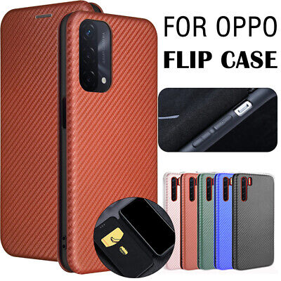AU14.99 • Buy For OPPO A54 A74 5G Find X3 Pro Neo Lite Fiber Case Carbon Texture Wallet Cover