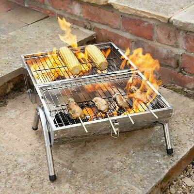£28.90 • Buy Portable Stainless Steel Barrel BBQ Camping Table Top Charcoal Fire Barbecue Pit
