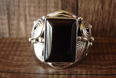 £106.75 • Buy Navajo Indian Jewelry Sterling Silver Men's Onyx Ring Size 11 1/2 - Darrell M