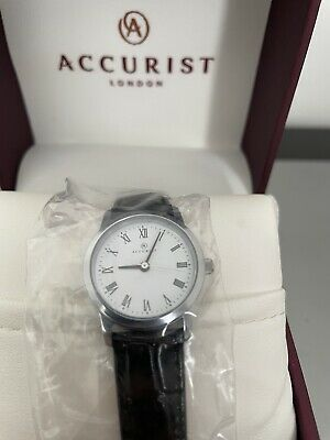 £14.99 • Buy Accurist Womens Analogue Quartz Watch With Leather Strap New Boxed