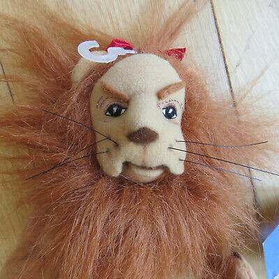 £7.99 • Buy Warner Bros THE WIZARD OF OZ The Cowardly Lion 10  BEANIE PLUSH SOFT TOY + TAG