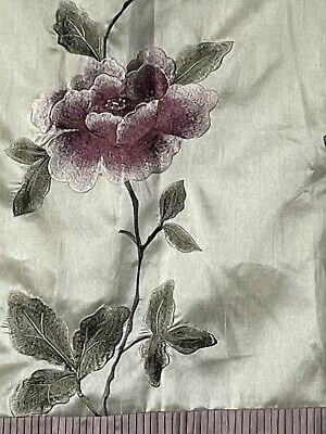£35 • Buy DUNELM MILL Floral Embroidered Pink Long Lined Pair Curtains W 90  X L 90