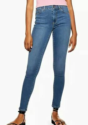 £25 • Buy Ladies Super Soft Ankle Grazer LEIGH MOTO Topshop W25 L30 New With Tag Mid Blue
