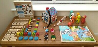 £35 • Buy Wooden Toy Bundle Age 3 / 4 + Melissa & Doug Doorbell House Three/four Year Old