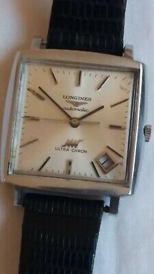 £495 • Buy LONGINES Ultra-Chron Date Automatic Cal.431 36000bph 5Hz Square Stainless Steel