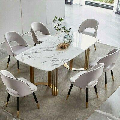 £930.50 • Buy Contemporary Stone White Marble Rectangular Dining Table 140cm X 80 X 75.