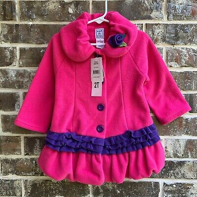 $13.75 • Buy Mack & Co Girls Softest Fleece With Warmth Not Weight Jacket, Hot Pink, Size 2T