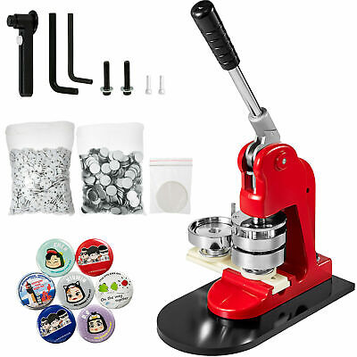 £56.99 • Buy 1  25mm Button Maker Badge Punch Press Machine Free 1000 Parts Circle Cutter