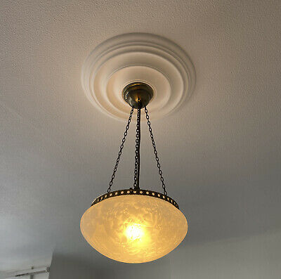 £65 • Buy Pendant Light, Ceiling Chandelier Light, Antique French Style, Ivory & Gold