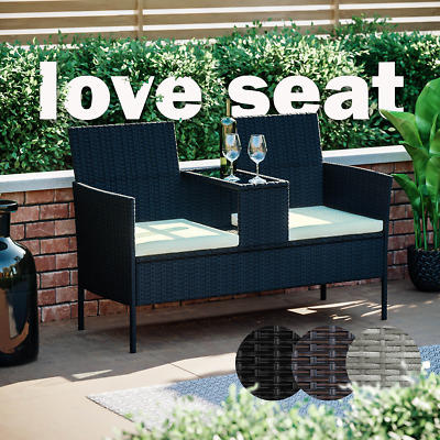 £109.95 • Buy Rattan Garden Furniture Bench Companion Love Seat Table Chair Conservatory