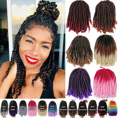 £12.32 • Buy Spring Twist Kinky Curly Afro Crochet Braids Hair Extensions Braiding Hairpieces