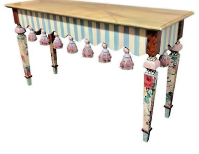 $3950 • Buy MacKenzie Childs Marble Entry Console Tassel Table
