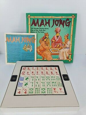 $27.78 • Buy Vintage MS Mah Jong Game 1980's 144 Wooden Pieces 100% Complete NEW