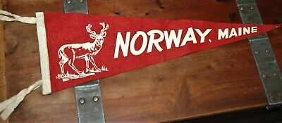 $25 • Buy Rare Norway, Maine Pennant Vintage New England Collectible 23  Red Deer