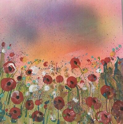 £3.99 • Buy Original Hand Painted Landscape Flower Unique Greeting Card. Summer Meadow