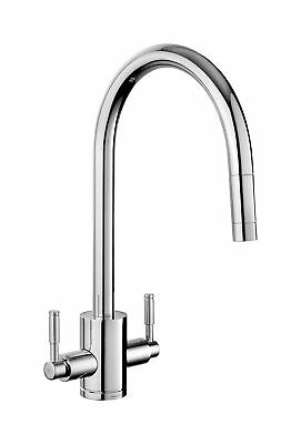 £225 • Buy Rangemaster Aquatrend Kitchen Sink Tap Chrome Swivel Spout Mixer Hot Pull Out