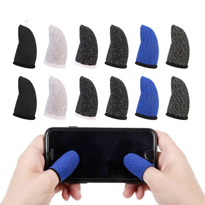 AU9.45 • Buy Mobile Finger Sleeve Touch Screen Game Controller Sweatproof Gloves 12 PCS Set
