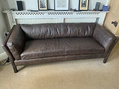 £930 • Buy John Lewis Halo Groucho Large Leather Sofa In Antique Whisky  - £2049 In Store