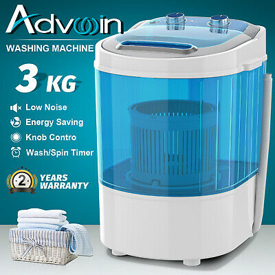 AU96.90 • Buy 2in1 Portable Washing Machine 3kg Home Top Load Single Tub Quick Dry Wash Blue