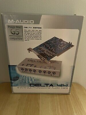 $110 • Buy M-Audio DELTA44 4-in 4-out Professional PCI Audio Card New