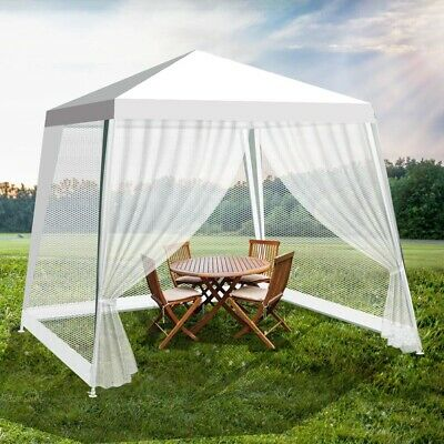 AU79.99 • Buy 3x3m White PE Easy Up Outdoor Party Gazebo Marquee Canopy Tent With Mosquito Net