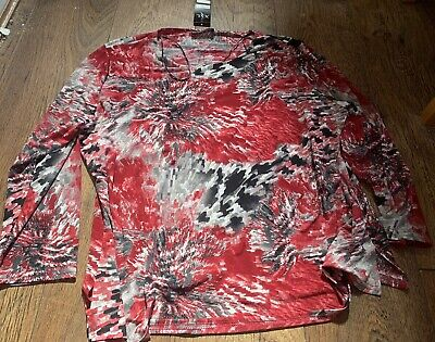 £6.99 • Buy BNWT Forever By Michael Gold Ladies Top Size XXL Red/Black (MG733)
