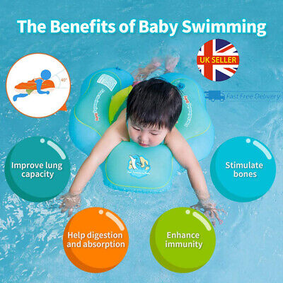 £14.99 • Buy Inflatable Baby Kids Float Swimming Ring Safety Trainer Newborn Learn Swim S-XL