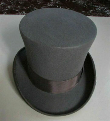 £31.81 • Buy Vintage 100% Wool 18cm Height Hat Mad Hatter Performing Magic Top Hat 3 Colors