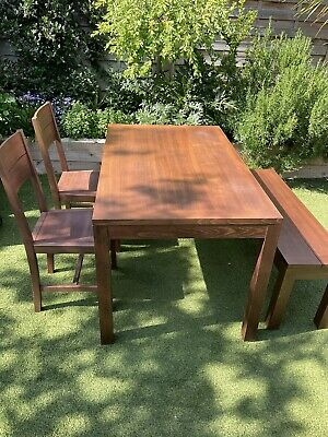 £200 • Buy John Lewis Wooden Dining Table Bench And 2 Chairs