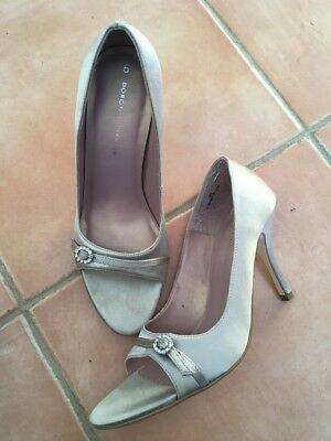 £4.99 • Buy Dorothy Perkins Champagne Coloured Evening Shoes, Size 6, Boxed