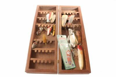 $ CDN48.30 • Buy Vintage Wood Display Folding Fishing Lure Cabinet With Lures & Spoons