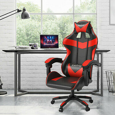 £65.99 • Buy Red Adjustable Executive Racing Gaming Computer Office Chair Swivel Recliner UK