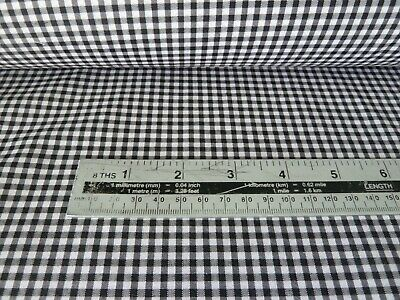 £3.25 • Buy Black And White 1/8  Gingham Check Poly Cotton Fabric By The Metre - Free Post