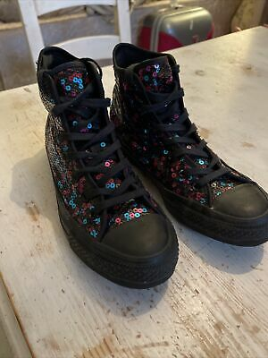 £20 • Buy Converse Chuck Taylor All Star Berry And Blue Sequins Size 4 VGC