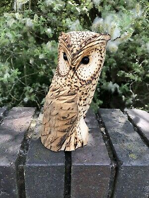 £25 • Buy Bespoke Chainsaw Owl Carvings In Wood OW1323