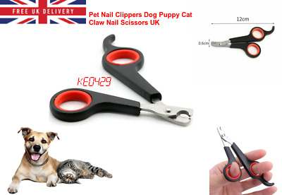 £1.99 • Buy Pet Nail Clippers Dog Puppy Cat Claw Nail File Trimmer Scissors UK