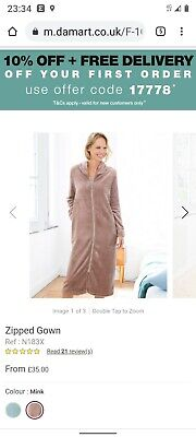 £20 • Buy Size 18-20 Mink Zipped Dressing Gown With Pockets By Damart Bnwotags