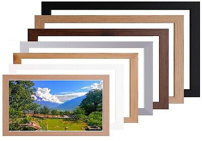 £8.63 • Buy Wood Picture / Poster Photo Frame Black Silver Oak White Multiple Sizes & Colour