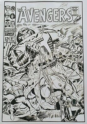 £30 • Buy Marvel Comic Front Cover Art With Stan Lee & Jack Kirby Signatures