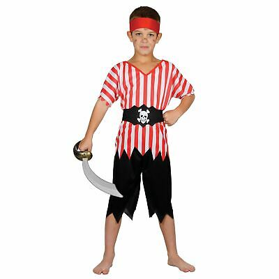£9.99 • Buy Childrens High Seas Pirate Fancy Dress Up Party Halloween Costume Outfit Red