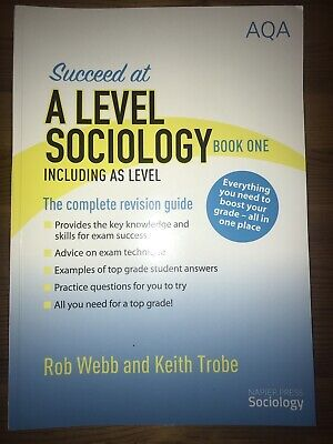 £15 • Buy AQA Succeed At A Level Sociology Book 1