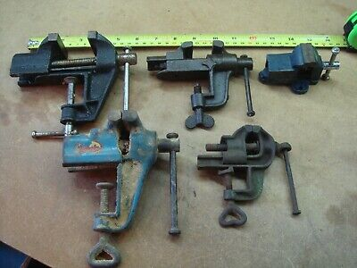 £30 • Buy Joblot 5x Small Vintage Vices Old Tools Shed Garage Barn Find House Clearance