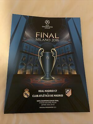 £7.95 • Buy Real Madrid V Atletico * UCL ECL Champions League Final Programme * MINT * Milan