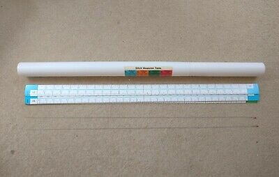 £9 • Buy Brother Knitting Machine STITCH MEASURE SCALE TABLE X20