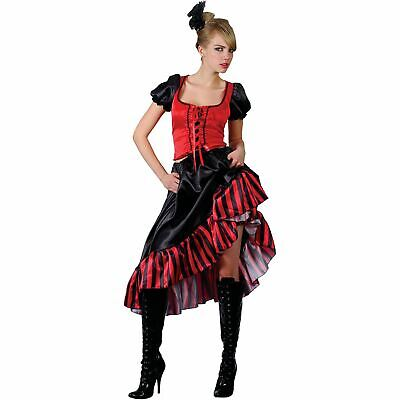 £24.99 • Buy Can Can Saloon Show Girl Red/Black Fancy Dress Costume
