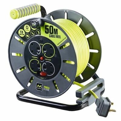 £54.99 • Buy Masterplug Pro-XT Four Socket Open Cable Reel Extension Lead - 50 Metres
