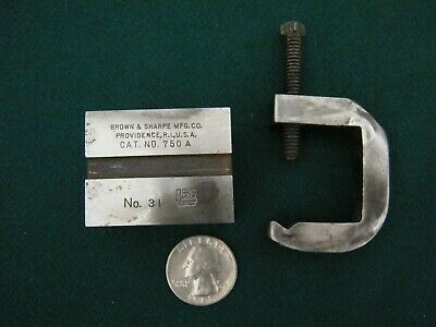 £6.02 • Buy VINTAGE 1 1/2  INCH Machinist V Block BROWN & SHARPE # 31 With CLAMP JEWELER